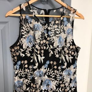 White House Black Market Lace Embroidered dress